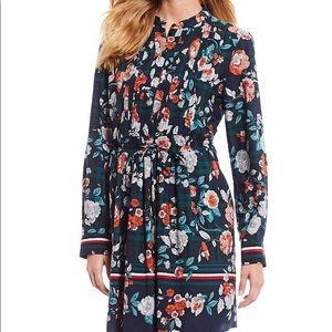 Tommy Hilfiger Crepe De Chine Floral Dress